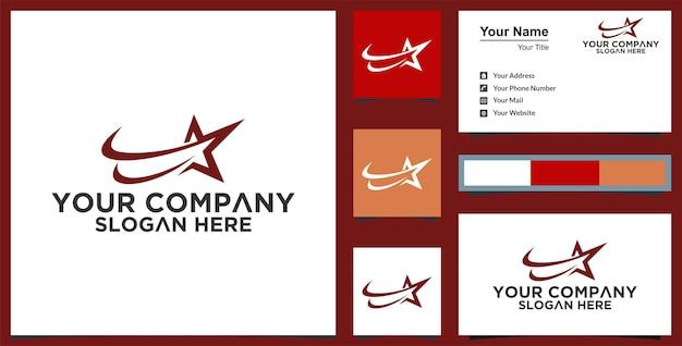 赤い星のロゴデザインテンプレートプレミアム