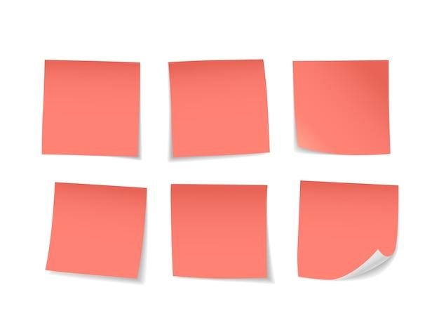 Red sticky notes set