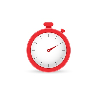 Red stop watch, clock. time