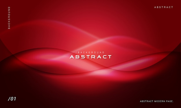 Red stylish abstract waves background