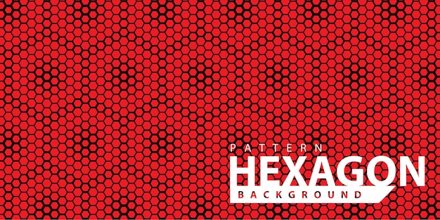 Red stylish hexagonal