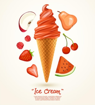 レッドサンデーソフトクリーム