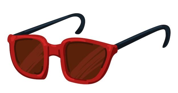 赤いサングラス、夏のアイウェアのユニセックスモデル