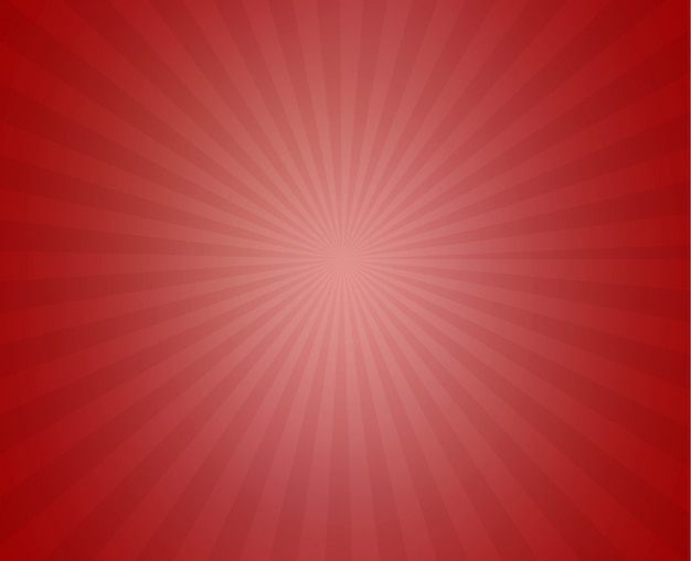 Red sunny ray background