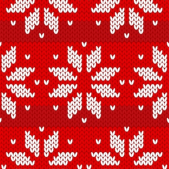 Red sweater pattern