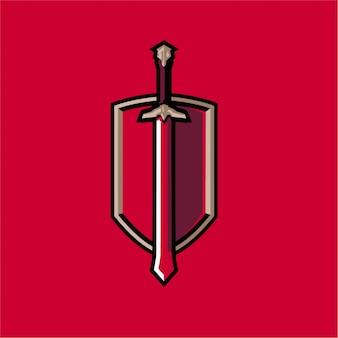 Red sword e sports mascot