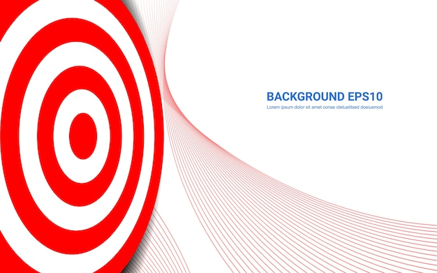 Red target board on white background. shooting target success solutions concept.