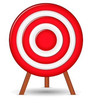 Red target,  illustration