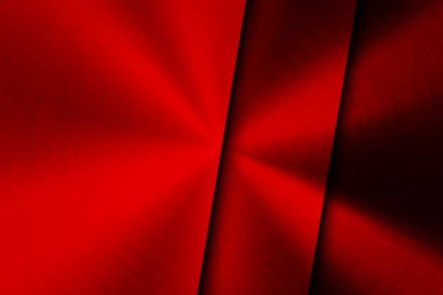 Red technology background with brushed metal texture
