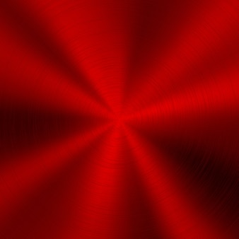 Red technology metal background with polished surface