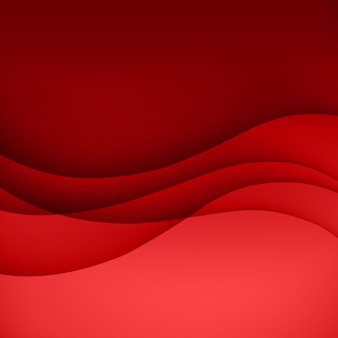 Red  template abstract background with curves lines and shadow. for flyer, brochure, booklet, websites