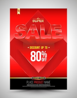 Red template super sale poster