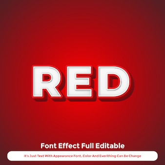 Red text effect 3d