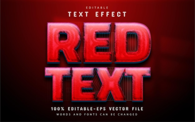 Red text effect editable