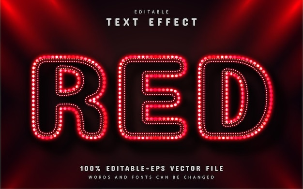 Red text effect neon style