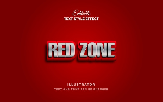 Red text style effect