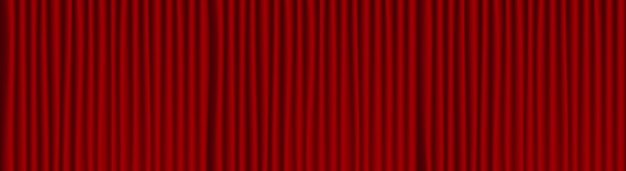 Red theater drape background .