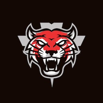 Red tiger esport style