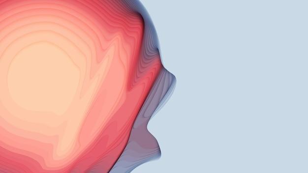 赤から青の紙の層