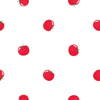 Red tomato seamless pattern. organic vegetarian food. used for design surfaces, fabrics, textiles, packaging paper.