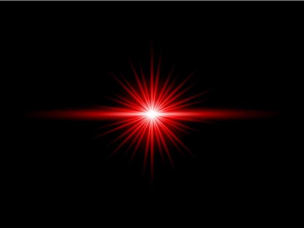 赤の透明な背景レンズフレアパック