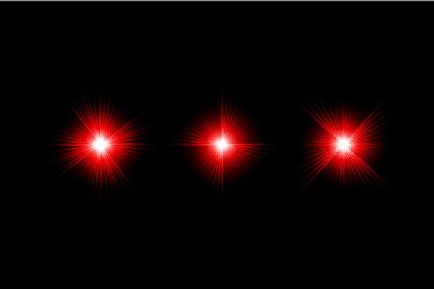 赤い透明な光レンズフレアデザインeps