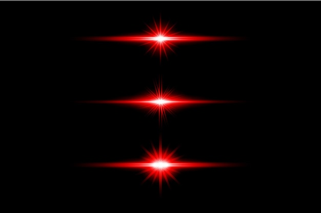 Красный прозрачный свет линзы вспышки дизайн eps