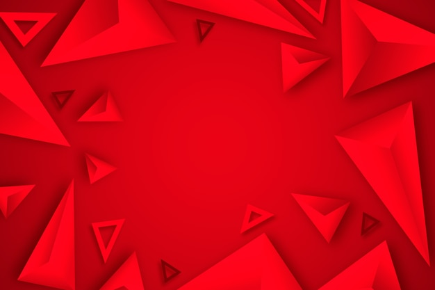 Red triangle background 3d design