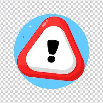 空白の背景に赤い三角形の警告サイン