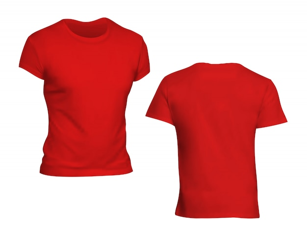 Red tshirt template with transparent background