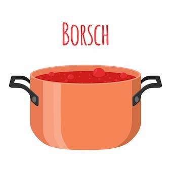 Red ukranian soup