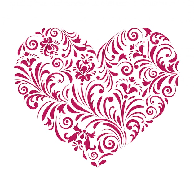 Red valentine heart
