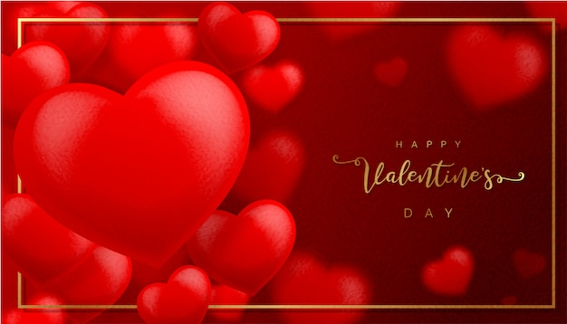 Red valentine's day paper texture background