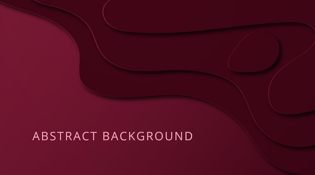 Красный бархатный фон на абстрактном стиле вырезки из бумаги