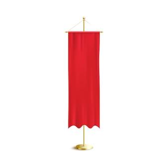 Красный вертикальный пустой вымпел висит иллюстрация