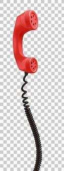 Красный старинный телефонный приемник