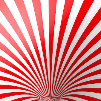 Red volumetric striped background.