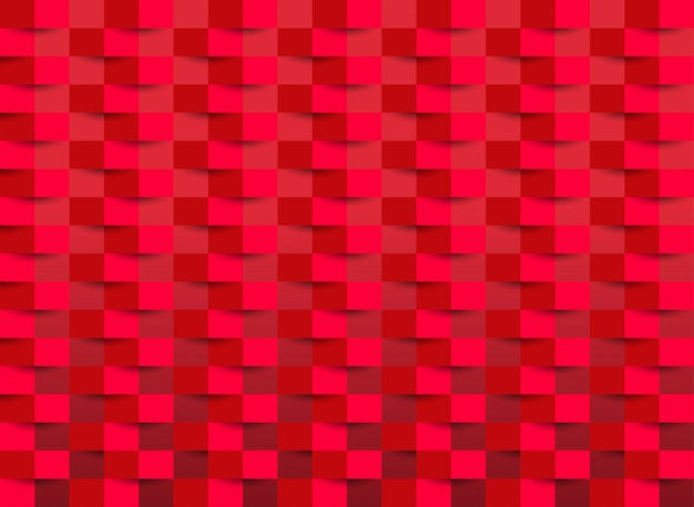 Red wallpaper with rectangle texture