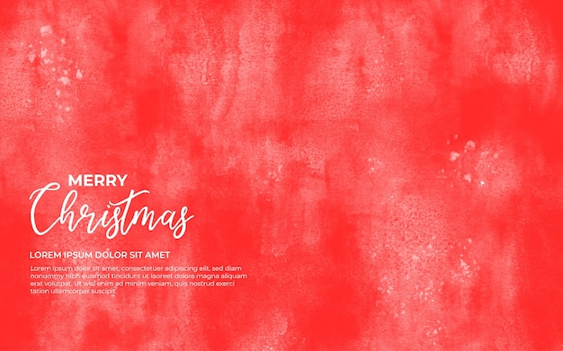 Красный акварельный фон на рождество