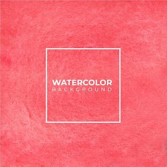 テクスチャの赤い水彩背景。抽象的な水彩画の背景。