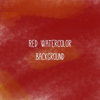 レッド水彩画の背景