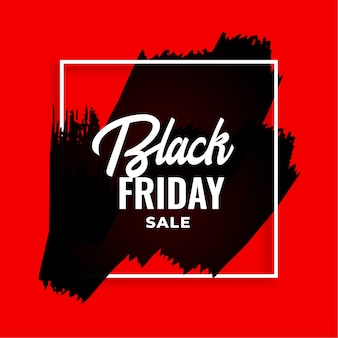 Red watercolor black friday background