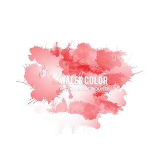 赤い水彩スプラッシュの背景