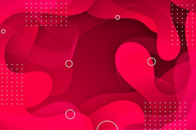 赤い波状の抽象的な背景