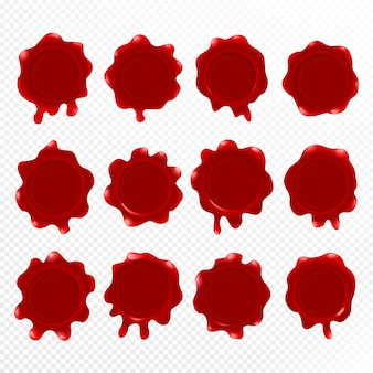 赤いワックスシール分離、