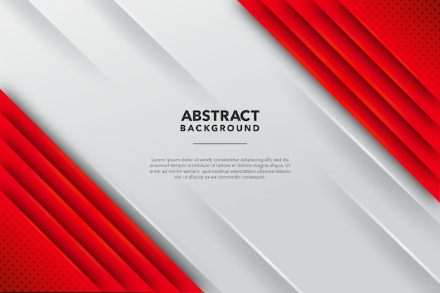 Red white abstract line background