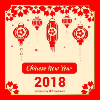 Red and white chinese new year background