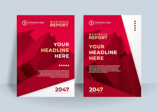 Red and white corporate identity cover business vector design, flyer brochure advertising abstract background, leaflet modern poster magazine layout template, annual report for presentation