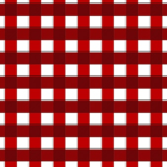 Red and white gingham seamless pattern