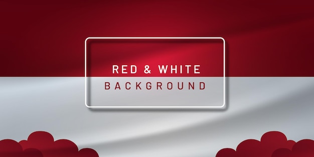 Red and white indonesia background